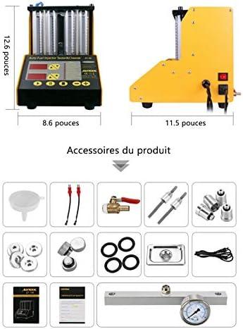 Autool 4 Cilindros Limpiador de inyector de Combustible por ultrasonidos 220 V Herramienta de Limpieza de Combustible para Coche o Moto: Amazon.es: Coche y moto