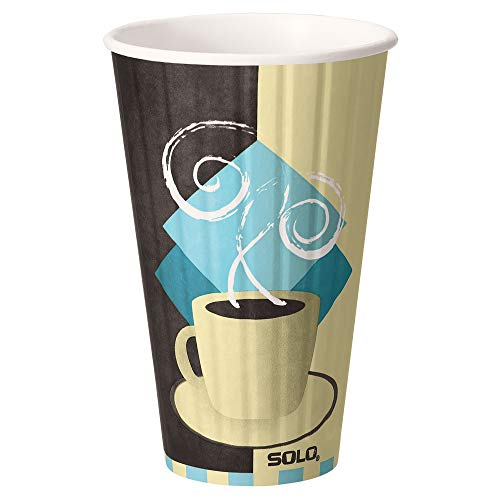 Solo IC16-J7534 16 oz Tuscan Cafe Duo Shield insulated Paper Hot Cup (Case of 525) ()