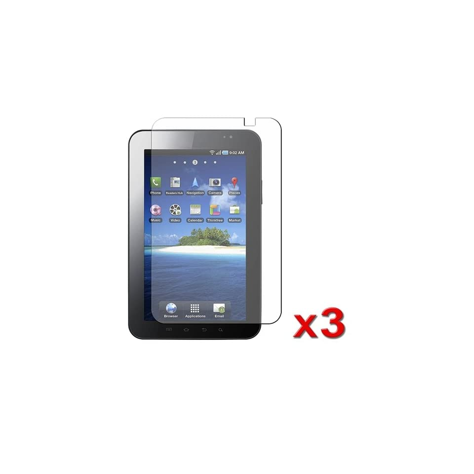 7 LCD Anti Glare Screen Protector Guard Cover For Samsung Galaxy Tab P1000 (3 Pack)