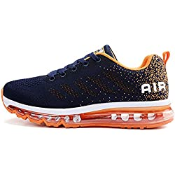 TORISKY Womens Mens Walking Casual Shoes Air Cushion Running Jogging Gym Sports Sneakers(833-OBL42)