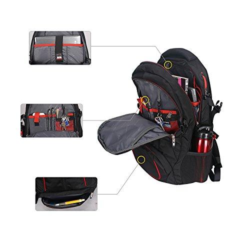 Soarpop Multifunktionaler Laptop-Rucksack, Business Rucksack, Übergrößer Schülertasche, Tagesrucksack für Radfahren, Camping und Reisen