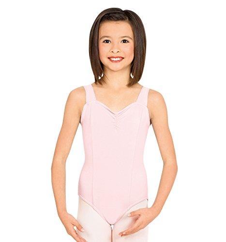 Girls Tank Dance Leotard,N5501CPNKL,Pink,Large - Pinched Neckline Dance Leotard