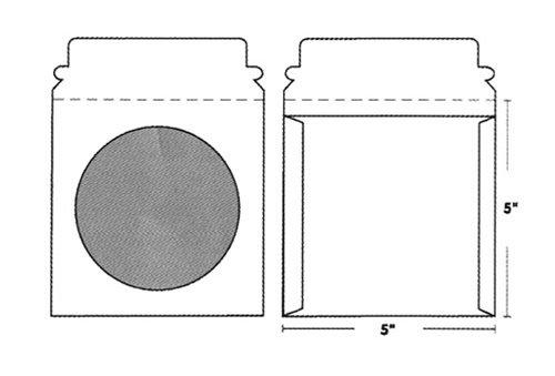 (mediaxpo Brand 100 CD/DVD White Cardboard Mailers, Self Seal Mailers with Window & Flap (5 x 5))
