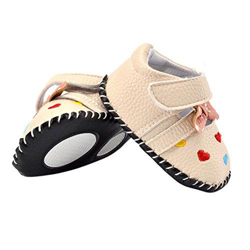 Hunpta Babyschuhe Mädchen Jungen Lauflernschuhe Neugeborenes Kind Liebe bestickte Schuhe Bowknot weiche Sohle Schuhe (13, Rot) Rot