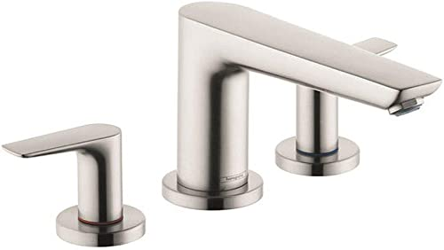 hansgrohe Talis E Modern 1-Handle 16-inch Wide Roman Tub Filler Freestanding Bathtub Faucet in Brushed Nickel, 71747821
