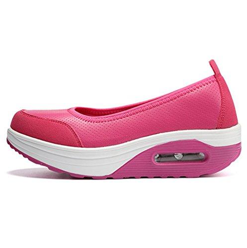 Coussin Shake De Chaussures Rose top Sneaker Décontractée Profonde Peu Chaussure Respirant Femme Mouth D'air Bas Yiiquanan Tn6taXq
