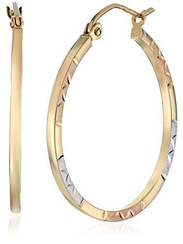 14k-Gold-Tri-Color-Round-Hoop-Earrings