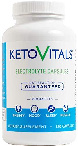 Keto Vitals Electrolyte Capsules The Original Keto Electrolyte Supplement Electrolyte Tablets Eliminate Fatigue and Leg Cramps Sodium, Potassium, Magnesium Calcium Zero Calorie Zero Carb