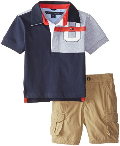 dde66d5d Tommy Hilfiger Baby Boys' Big 85 Jersey Rugby Set, Swim Navy, 12 Months -  Buy Online in Oman. | Apparel Products in Oman - See Prices, Reviews and  Free ...