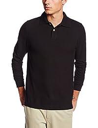 Men's Modern Fit Long Sleeve Polo