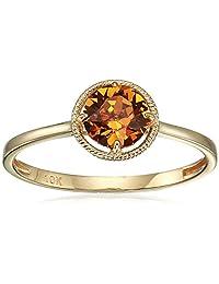 10k Gold Swarovski Crystal November Birthstone Ring, Size 8