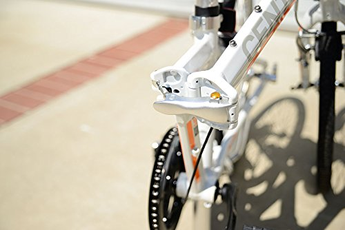 Allen Sports Central Aluminum 7 Speed Folding Bicycle with Suspension, White, 12-Inch/One Size by Allen Sports (Image #6)