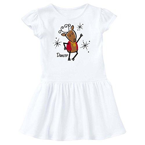 inktastic - Dancer Reindeer Toddler Dress 3T White 278a7 ()