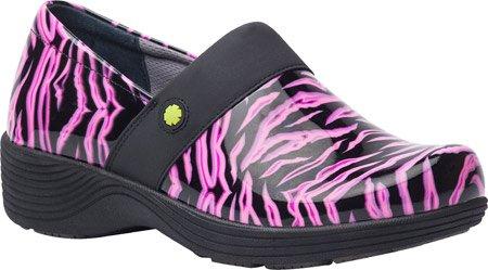 WorkWonders by Dansko Women's Camellia Clog (Pink Zebra Patent, 42)