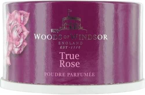 Woods of Windsor True Rose Dusting Body Powder with Puff, 3.5 Oz