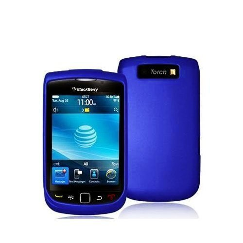 Importer520 Rubberized Snap-On Hard Skin Protector Case Cover for For (AT&T) Blackberry Torch 9800/9810 - Blue