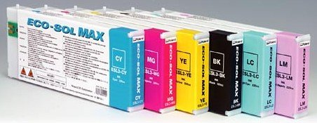 Roland Eco-Sol Max ESL3-YE Solvent Ink Cartridge 220ml Yellow - 220 Ml Yellow Ink