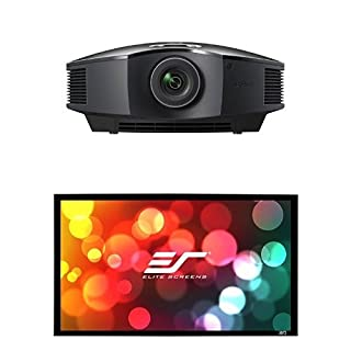 Sony Home Theater Projector with Screen: VPL-HW45ES Full 1080P HD Video Projector for TV, Movies and Gaming - SB110WH2 Elite Screens Sable Frame B2 Home Theater Projection Screen Kit (B077JQMFTR) | Amazon price tracker / tracking, Amazon price history charts, Amazon price watches, Amazon price drop alerts