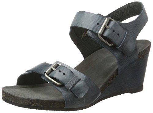 Donne Cashott A17074 Sandali Con Il Cinturino Blu (blu Occidentale 133)