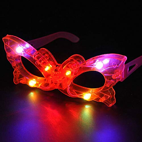 Love Environment LED Blind Eye Mask Glasses Light Up Flashing Wedding Favors Gifts Party Supplies Adult Glow Halloween