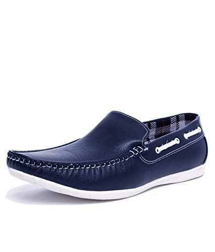 714d9aad87a DLS Men s Navy Blue Synthetic Leather Loafers  Buy Online at Low ...