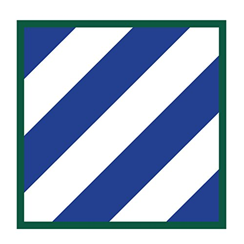 US Army - 3rd Infantry Division Patch Decal - 3.5 Inch Tall Full Color Decal, Sticker