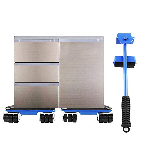 Easy Room Rearrange, Blue Heavy Duty Iron Easy Moving 660lb Heavy Furniture Lifter 4 Slide Gliders Rotating Shift Lifting Moving Wheel by goodyusstore (Image #9)
