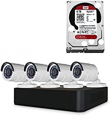 Conceptronic Kit VIDEOVIGILANCIA 720p 8 Canales Incluye 4 CAMARAS INT/EXT + Grabador HD WD PURTPLE 6
