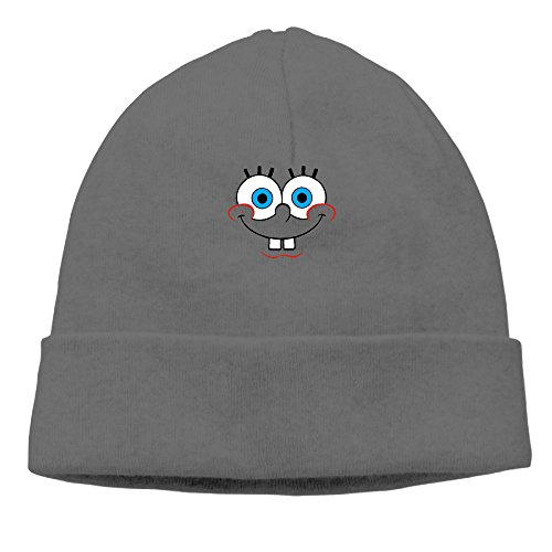 Sponge Bob Squarepants Face Of Bob Cool Skull Cap Knit Hat - Krusty Krab Hat