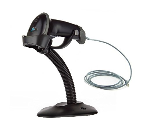 EOM-POS Corded Barcode and UPC Scanner - Auto sensor- with Stand and USB Cable Compatible with Windows and Mac. Automatic Laser Scanner, Hands Free [Black] NOT COMPATIBLE WITH SQUARE OR CLOVER