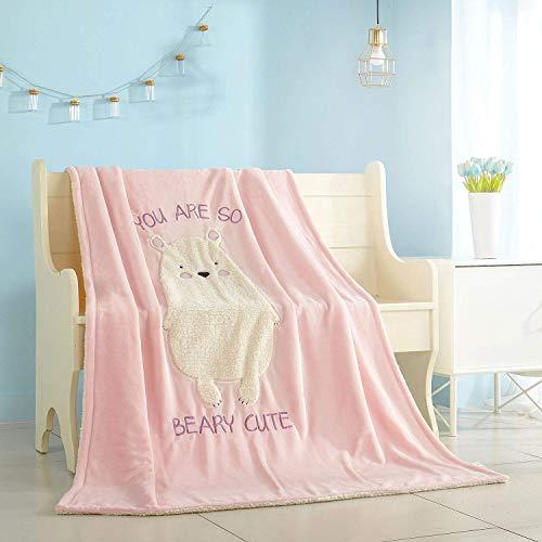 (American Kids Figural Bear Sherpa Blanket Throw, 50'' x 60'')