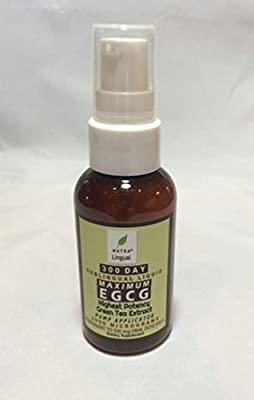 Maximum EGCG Highest Potency Green Tea Extract 2,000 mcg (Equivalent to 500 mg Oral Dose) 300 DAY Sublingual Liquid Supplement by NUTRA Lingual™ for Maximum Absorption