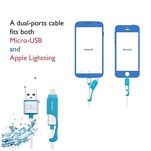 oraele 2in 1Lightning + Cavo dati micro USB cavo 1m cavo di ricarica per iPhone 5S SE 66S Plus 7/7Plus iPad/Huawei Samsung LG Moto Android Smartphone