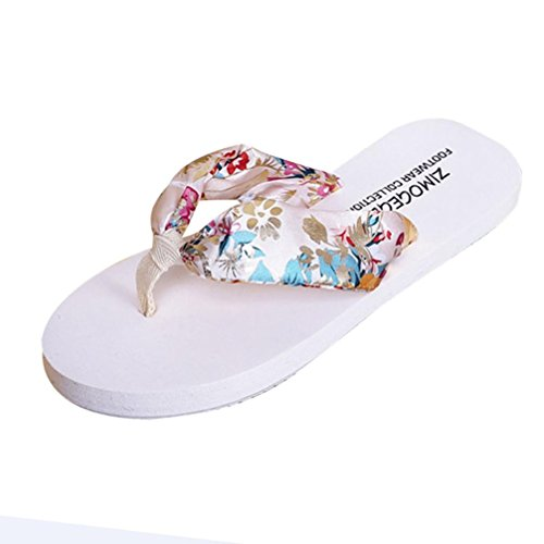 Damen Zehentrenner, Yogogo Sommer Sandalen Slipper Indoor Outdoor Flip-Flops Strand Schuhe (40, Braun)