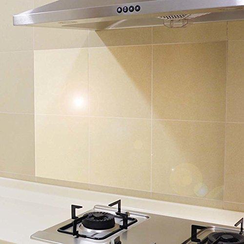Pegatinas de aceite de cocina transparente,Baldosas de pasta de vidrio de alta temperatura resistente al agua aceite...