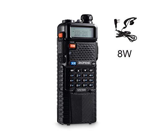 QUANBIAO x Baofeng UV-5R Plus 3800mAh Battery Tri-Power 8/4/1W Two Way Radio Dual Band Ham Walkie Talkie