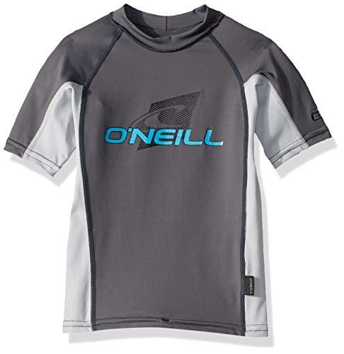 O'Neill Wetsuits Youth Premium Skins Upf 50+ Short Sleeve Rash Guard,Graphite/Grey,8