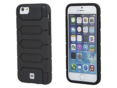 Monoprice Armored Case for iPhone 6 and 6s - Metallic Black