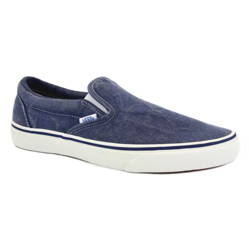 Vans Classic Slip On - Zapatillas para hombre Blau (Dunkelblau/Weiß)
