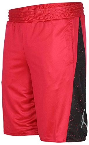 Air Jordan Mens Retro 5 Reversible Basketball Shorts Red (Medium)