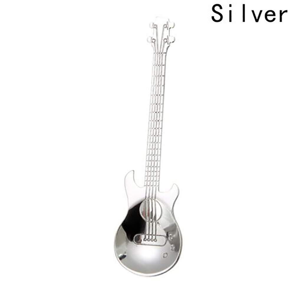 HAVIL Stainless Steel Guitar Design Spoons for Coffee Tea Dessert Drink Mixing Milkshake Spoon Tableware