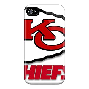Great Hard Cell-phone Case For Iphone 4/4s With Unique Design Nice Kansas City Chiefs Pattern AaronBlanchette