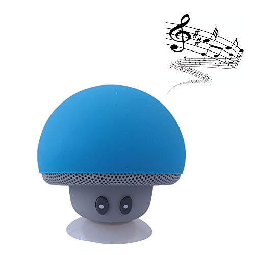Hipipooo Cute Speaker Mushroom-Shaped, Portable Bluetooth Speaker Mini Speaker with Built-in Mic and Suction Cup for Kitchen/Bedrooms/Car/Desk/Shelf/Party/Travel/Outdoor Android/iOS Speaker