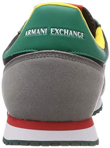 Basse Exchange Lace Sneaker Up With Nero Da Logo Armani Ginnastica Uomo Multicolor Scarpe TqZ1wfxdz