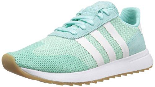 adidas Originals Women's FLB_Runner W Running Shoe, Energy Aqua Fabric, Ftwr White, Gum