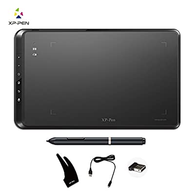 XP-Pen Star05 Wireless 2.4G Graphics Drawing Tablet Digital tablet Painting Board with Touch Hot Keys and Battery-free Passive Stylus