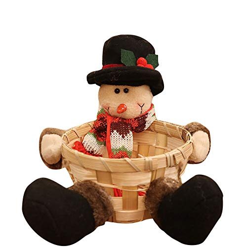 - YANG-YI Claus Storage Basket, Christmas Candy Storage Basket Decoration Santa Claus Storage Basket
