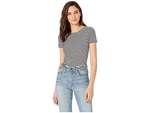 Free People Women's Baby Rib Tee, Black Combo, ()