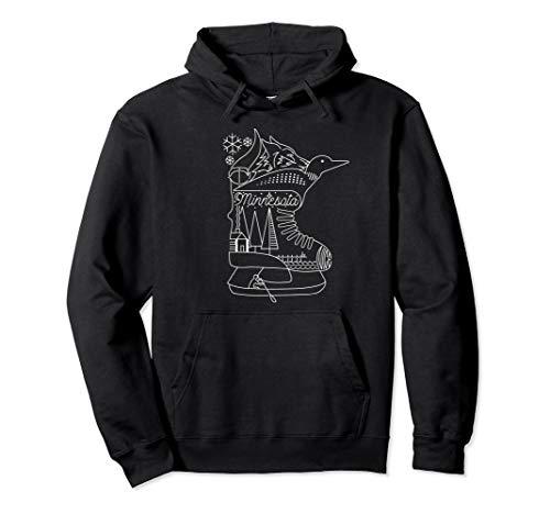 Minnesota State Hooded Sweatshirt with Hidden Images -Hoodie