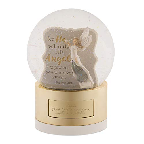 Things Remembered Personalized His Angels Musical Snow Globe with Engraving Included (Musical Angel Snowglobe)